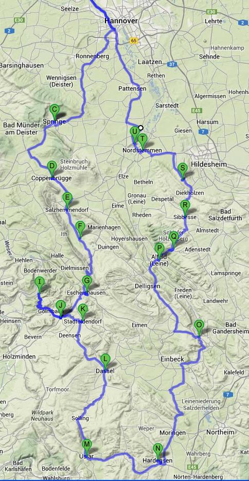 kurvenjäger | motorradfahrer-unterwegs.de - Erste Motorrad-Tagestour 3.Oktober 2013 ins Weserbergland