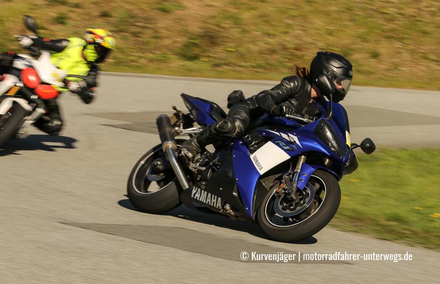 Motorrad-Kurventraining auf dem Heidbergring