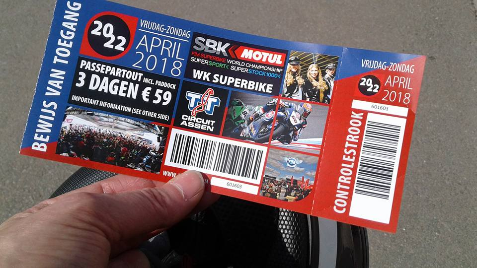 3 Tages Ticket WorldSBK 2018 Assen
