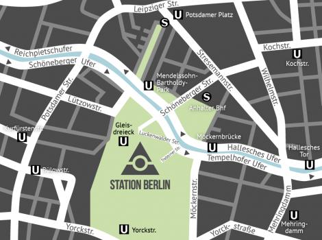 Lage und Anfahrt STATION-Berlin BMT Berliner Motorrad Tage 2019