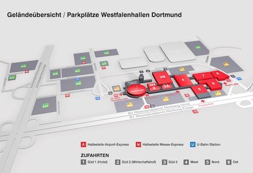 Geländeplan Motorräder Dortmund 2019